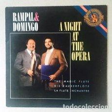 Discos de vinilo: RAMPAL & DOMINGO - A NIGHT AT THE OPERA - MOZART - GLUCK - PLÁCIDO DOMINGO (COMO NUEVO) . Lote 122027803