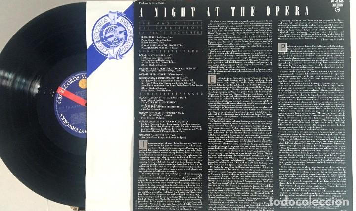 Discos de vinilo: RAMPAL & DOMINGO - A NIGHT AT THE OPERA - MOZART - GLUCK - PLÁCIDO DOMINGO (como nuevo) - Foto 2 - 122027803