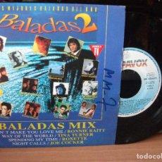 Discos de vinilo: VARIOS - BALADAS 2 BALADAS 2 SINGLE SPAIN 1992 PDELUXE. Lote 122028463