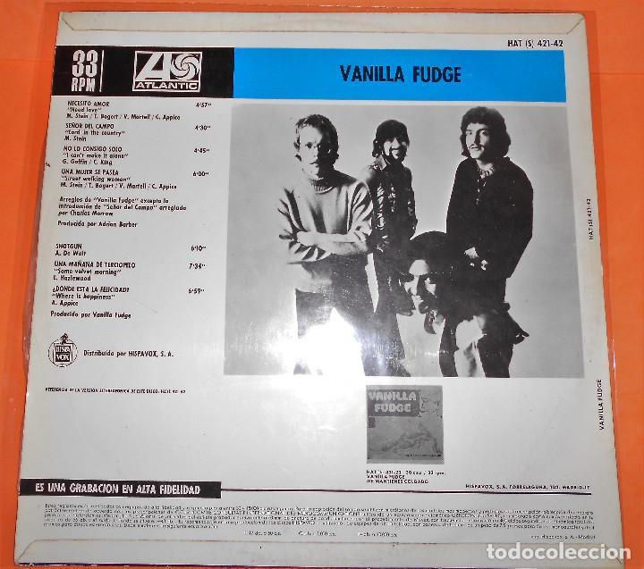 Discos de vinilo: Vanilla Fudge - Vanilla Fudge LP Compilacion. 1969. Atlantic-Hispavox - Foto 3 - 122030099