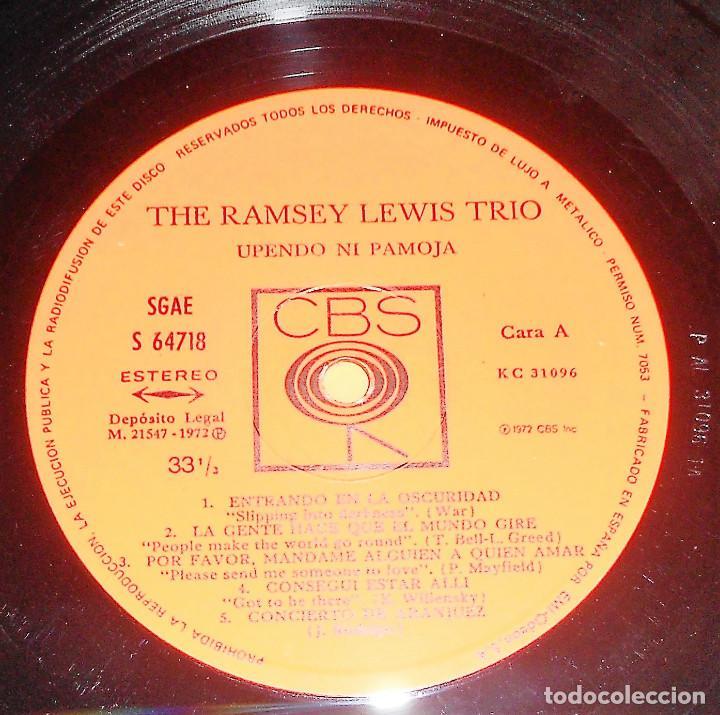 Discos de vinilo: THE RAMSEY LEWIS TRIO. UPENDO NI PAMOJA. LP . CBS 1972. - Foto 4 - 192178458