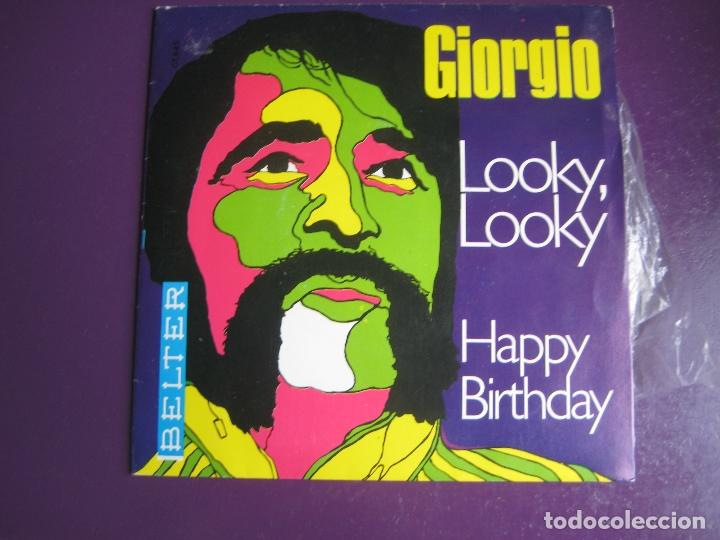 GIORGIO MORODER SG BELTER 1969 LOOKY LOOKY/ HAPPY BIRTHDAY POP ROCK BUBBLEGUM 70'S (Música - Discos - Singles Vinilo - Pop - Rock - Extranjero de los 70)