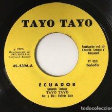Discos de vinilo: EDUARDO TAMAYO - ECUADOR / EL EMIGRANTE - FABRICADO EN GUAYAQUIL. Lote 122061579