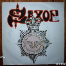 Discos de vinilo: SAXON - STRONG ARM OF THE LAW + TAKING YOUR CHANGES . Lote 122062883
