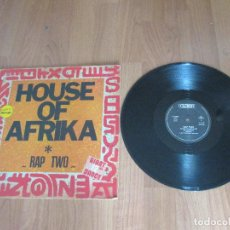 Discos de vinilo: RAP TWO - HOUSE OF AFRIKA - MAXI - FRANCIA - CLEVER - IBL - . Lote 122077235