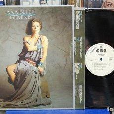 Discos de vinilo: ANA BELEN. GÉMINIS. CBS 1985, REF. S 25991, LP. Lote 122077679