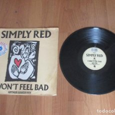 Discos de vinilo: SIMPLY RED - I WON´T FEEL BAD - MAXI - UK - WEA RECORDS - IBL - . Lote 122079203