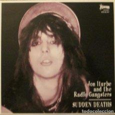 Discos de vinilo: JON ITURBE AND THE RADIO GANGSTERS: SUDDEN DEATHS, DISCO DE 25 CMTS. 10 PULGADAS. Lote 122090907