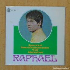 Discos de vinilo: RAPHAEL - AL PONERSE EL SOL + 3 - EP. Lote 122093892