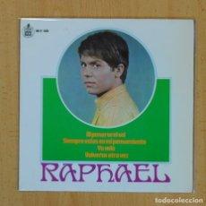 Discos de vinilo: RAPHAEL - AL PONERSE EL SOL + 3 - EP. Lote 122094256