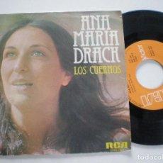 Discos de vinilo: ANA MARIA DRACK - LOS CUERNOS +1 - SINGLE RCA 1976. Lote 122096647