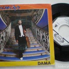 Discos de vinilo: MANGLIS - DAMA / UN NUEVO VIAJE - SINGLE PROMOCIONAL MOVIEPLAY 1983. Lote 122099527