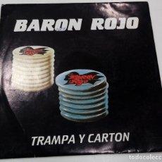 Discos de vinilo: BARÓN ROJO - TRAMPA Y CARTÓN - SG PROMO - ED. ESPAÑOLA 1988. Lote 122102303