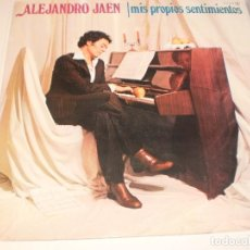 Discos de vinilo: LP ALEJANDRO JAÉN. MIS PROPIOS SENTIMIENTOS. NOVOLA 1978 SPAIN CARPETA DOBLE. PROBADO Y BIEN. Lote 122115803