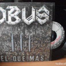 Discos de vinilo: OBUS EL QUE MAS SINGLE SPAIN 1984 PDELUXE. Lote 122125215