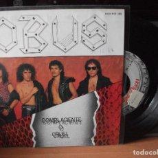 Discos de vinilo: OBUS COMPLACIENTE O CRUEL SINGLE SPAIN 1986 PDELUXE. Lote 122126083