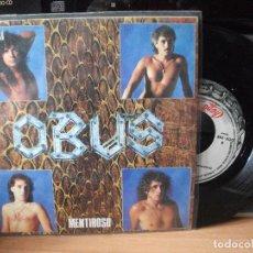 Discos de vinilo: OBUS MENTIROSO SINGLE SPAIN 1986 PDELUXE. Lote 122126351