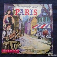 Discos de vinilo: BERTRAND BECH Y SU CONJUNTO // PASEANDO POR PARIS. Lote 122128651