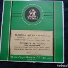 Discos de vinilo: ORQUESTA ANDRY Y ORQUESTA DI CEGLIE. Lote 122129203