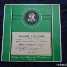 Discos de vinilo: MAXINE SULLIVAN Y RUBY WRIGHT . Lote 122129311