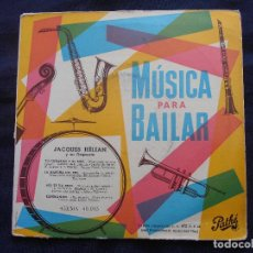 Discos de vinilo: JACQUES HELIAN Y SU ORQUESTA // TU CORAZON Y EL MIO + 3. Lote 122131511