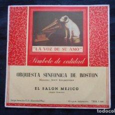 Discos de vinilo: ORQUESTA SINFONICA DE BOSTON // EL SALON MEJICO. Lote 122131727