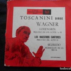 Discos de vinilo: TOSCANINI DIRIGE WARNER // LOHENGRIN - LOS MAESTROS CANTORES // DOBLE DISCO DOBLE PORTADA. Lote 122133295
