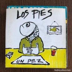 Discos de vinilo: LOS PIES - UN PEZ - SINGLE FONOMUSIC 1991. Lote 122135791