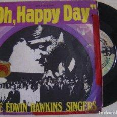 Discos de vinilo: THE EDWIN HAWKINS SINGERS - OH, HAPPY DAY + JESUS, LOVER OF MY SOUL - SINGLE ESPAÑOL 1969 -. Lote 122137671