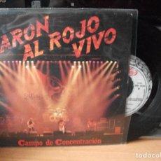 Discos de vinilo: BARON ROJO CAMPO DE CONCENTRACION SINGLE SPAIN 1984 PDELUXE. Lote 122143559