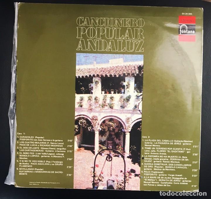 Discos de vinilo: PACO DE LUCÍA, FOSFORITO, LA PAQUERA DE JEREZ, PORRINA, CARACOL, SERNITA... 1971 - Foto 2 - 122145619