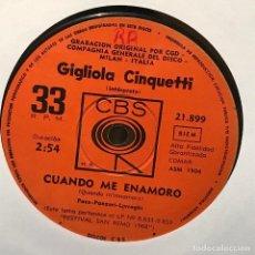 Discos de vinilo: SENCILLO ARGENTINO DE GIGLIOLA CINQUETTI CANTADO EN ITALIANO AÑO 1968. Lote 122145691