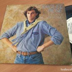 Discos de vinilo: MIGUEL BOSE (CREO EN TI /DEJA QUE) SINGLE ESPAÑA 1979 PROMO (EPI11). Lote 122150815