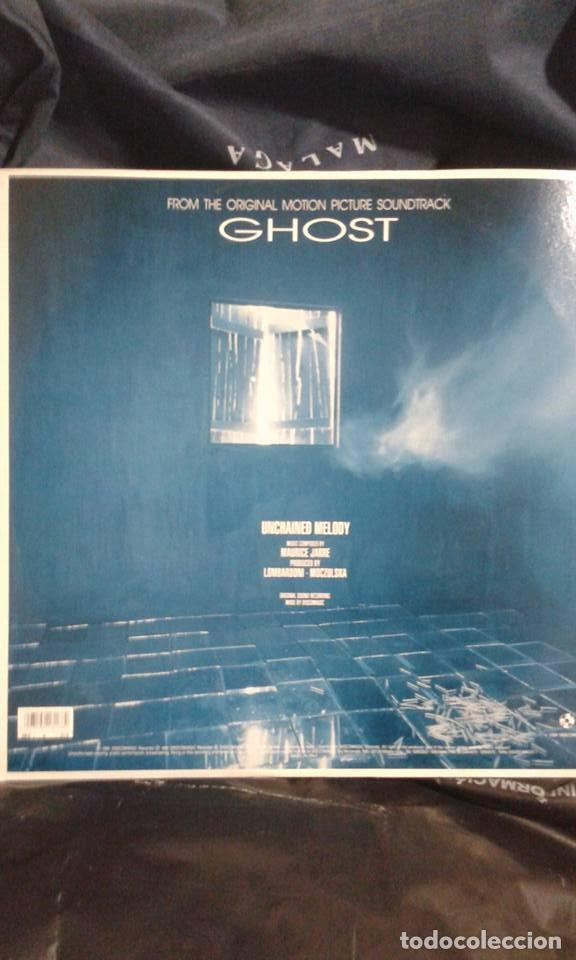Discos de vinilo: UNCHAINED MELODY FROM THE ORIGINAL MOTION PICTURE SOUNDTRACK GHOST (MAURICE JARRE) - Foto 2 - 122157143