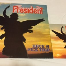 Discos de vinilo: PRESIDENT - HAVE A NICE TRIP + SINGLE FUCKED NIGHTMARE (THRASH METAL, FUCK OFF, LEGION). Lote 122159230