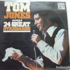 Discos de vinilo: TOM JONES 24 GREAT STANDARS 2LP. Lote 122159327