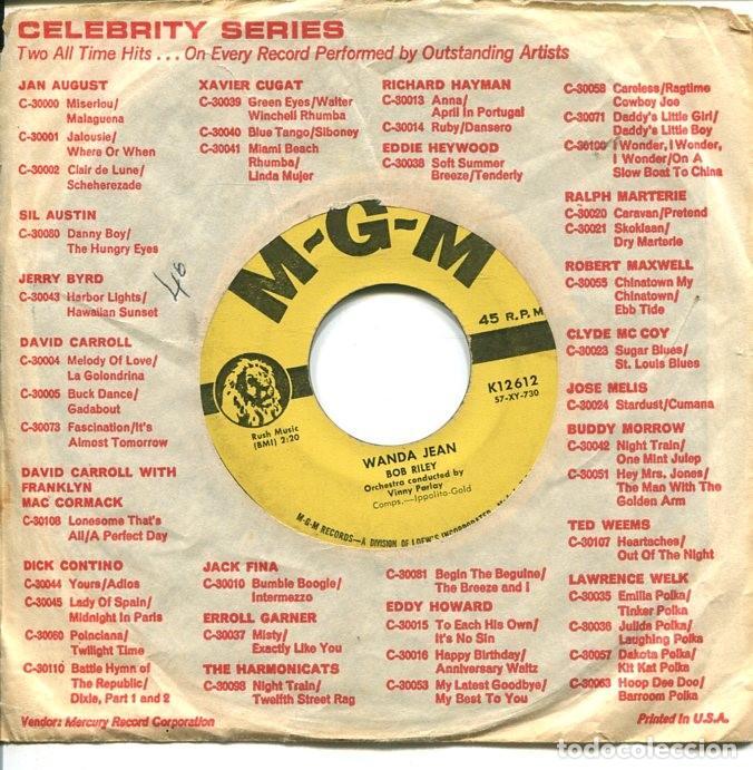 BOB RILEY / WANDA JEAN / THE MODNIGHT LINE (SINGLE ORIGINAL USA) (Música - Discos - Singles Vinilo - Pop - Rock Extranjero de los 50 y 60)