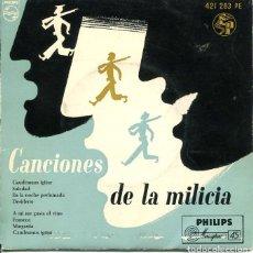 Discos de vinilo: CANCIONES DE LA MILICA (CORO DE ESTUDIANTES - TUNA) / SOLEDAD + 7 (EP 1962). Lote 122165211