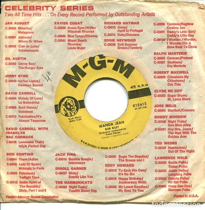 Discos de vinilo: BOB RILEY / WANDA JEAN / THE MODNIGHT LINE (SINGLE ORIGINAL USA) - Foto 2 - 122164563