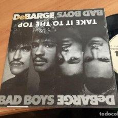 Discos de vinilo: DE BARGE (TAKE IT TO THE TOP) SINGLE ESPAÑA 1987 (EPI11). Lote 122166179