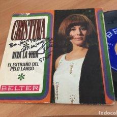 Discos de vinilo: CRISTINA. LOS STOP (VIVA LA VIDA) SINGLE ESPAÑA 1969 FIRMADO ARTISTA (EPI11). Lote 122167103