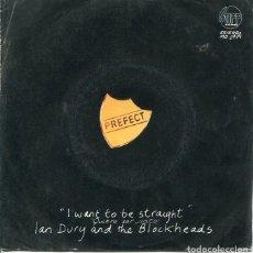 Discos de vinilo: IAN DURY AND THE BLOCKHEADS / QUIERO SER JUSTO / ESO NO ES TODO (SINGLE PROMO 1979). Lote 122167147