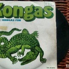 Discos de vinilo: SINGLE (VINILO) DE KONGAS AÑOS 70. Lote 122167671