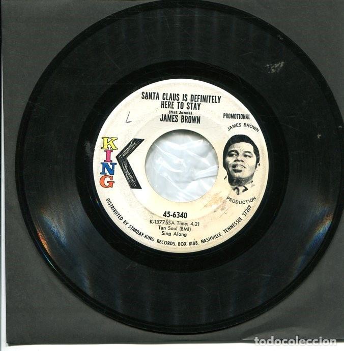 JAMES BROWN / SANTA CLAUS IS DEFINITELY HERE TO STAY (SINGLE PROMO ORIGINA USA SELLO KING) (Música - Discos - Singles Vinilo - Funk, Soul y Black Music)