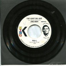 Discos de vinilo: JAMES BROWN / BOBBY BYRD - FIGHT AGAINST SRUG ABUSE (SINGLE PROMO ORIGINAL USA SELLO KING). Lote 122167871