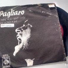 Discos de vinilo: SINGLE (VINILO) DE PAGLIARO AÑOS 70. Lote 122168203