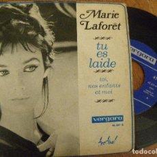 Discos de vinilo: MARIE LAFORET -TU ES LAIDE -SINGLE 1969. Lote 122169591