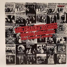 Discos de vinilo: THE ROLLING STONES, CAJA CON 4 LPS + LIBRO LETRAS Y FOTOS, (THE LONDON YEARS), 1989, ABCKO 1218-1. Lote 122175911