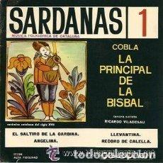 Discos de vinilo: COBLA LA PRINCIPAL DE LA BISBAL - SARDANAS Nª 1 - DISCOPHON 1965. Lote 122180983
