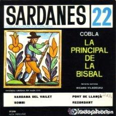 Discos de vinilo: COBLA LA PRINCIPAL DE LA BISBAL - SARDANAS 22- EP DISCOPHON 1966 - SARDANA DEL VAILET + 3 TEMAS. Lote 122182655